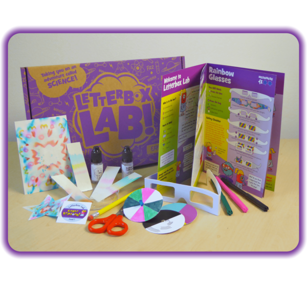The Explore Box, a science kit for six year olds