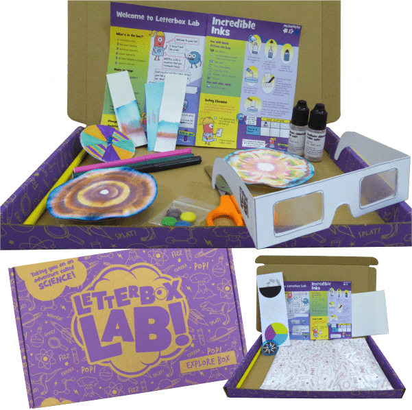 Explore box. Science subscription box for kids aged 6+