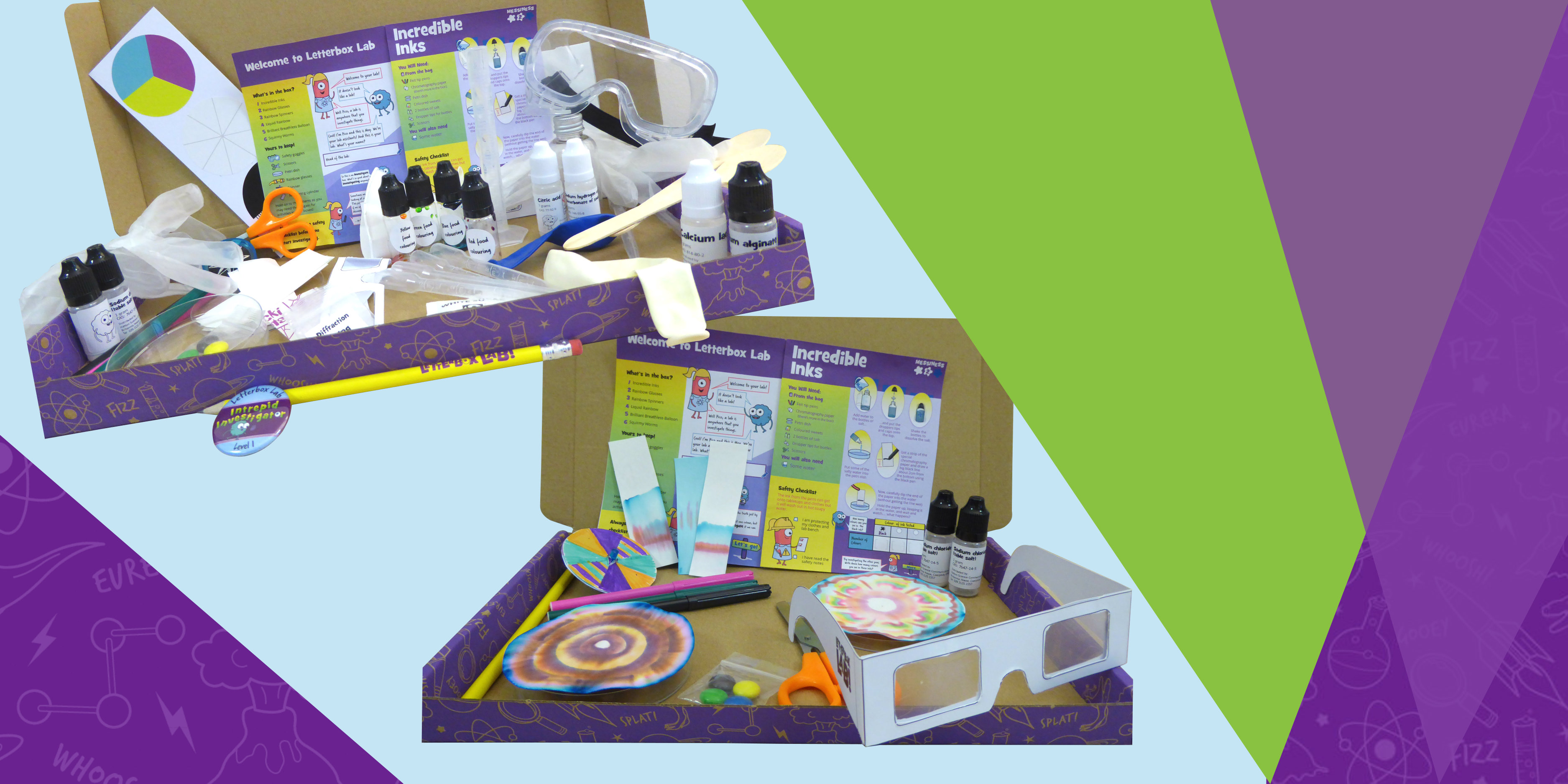 the explore box and investigate box science subscription boxes from letterbox lab