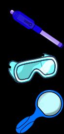 secret message pen lab goggles magnifying glasses