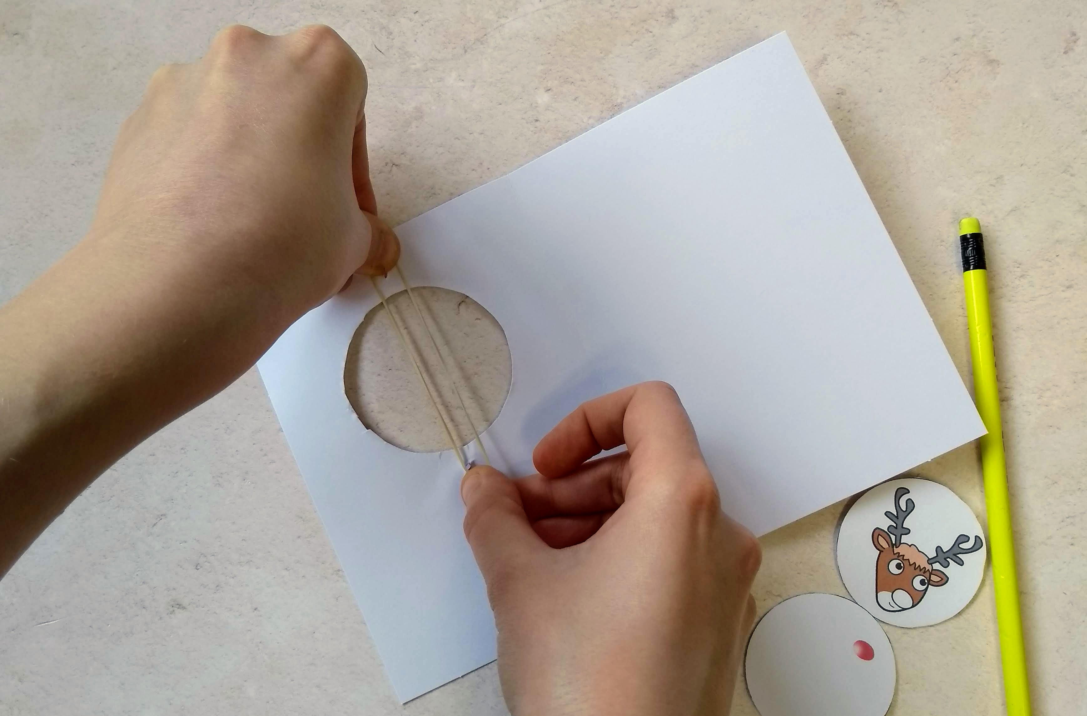 How to make an optical illusion christmas card