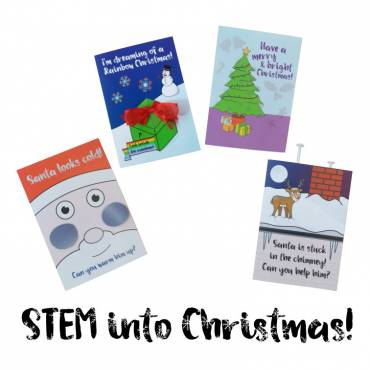STEM into Christmas with a kids' scientific card-making kit!